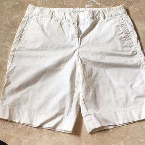 J. Crew White Chino Shorts Size 4